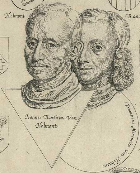 17th-century etched portraits of J. B. and F. M. van Helmont